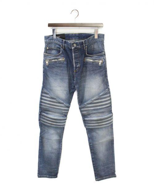 BALMAIN(バルマン)BALMAIN (バルマン) 20SS バイカーデニムパンツ インディゴ サイズ:W30の古着・服飾アイテム