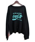 FACETASM(ファセッタズム)の古着「×Cocacola プリントスウェット」 ブラック