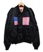 FACETASM(ファセッタズム)の古着「MA-1ジャケット」 ブラック