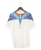MARCELO BURLON(マルセロバーロン)の古着「フェザーTシャツ」|ホワイト
