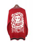 MCM(エムシーエム)の古着「20SS ミユンヘンライオンカーディガン」|レッド
