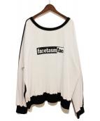 FACETASM(ファセッタズム)の古着「20SS CREW NECK SWEAT」|ホワイト×ブラック