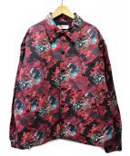FACETASM(ファセッタズム)の古着「フラワープリントコーチジャケット」 ブラック