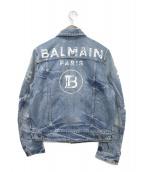 BALMAIN(バルマン)の古着「ジップアップデニムジャケット」|インディゴ