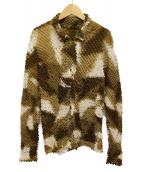ISSEY MIYAKE(イッセイミヤケ)の古着「グラデーションプリーツジャケット」|ブラウン