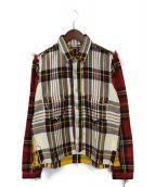 Mastermind JAPAN(マスターマインドジャパン)の古着「再構築チェックジャケット」|マルチカラー