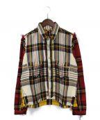 Mastermind JAPAN(マスターマインド ジャパン)の古着「再構築チェックジャケット」|マルチカラー