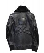 Mastermind JAPAN(マスターマインドジャパン)の古着「B-2レザージャケット」|ブラック