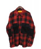CHALLENGER(チャレンジャー)の古着「20AW L/S BUFFALO CHECK SHIRT」|レッド