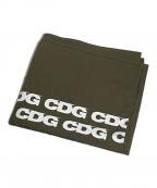 COMME des GARCONS()の古着「CDGロゴストール」 カーキ