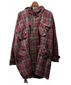 ()の古着「20SS CHECK MODS COAT」|レッド