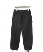 BLACK EYE PATCH(ブラックアイパッチ)の古着「ペインターパンツ」 ブラック