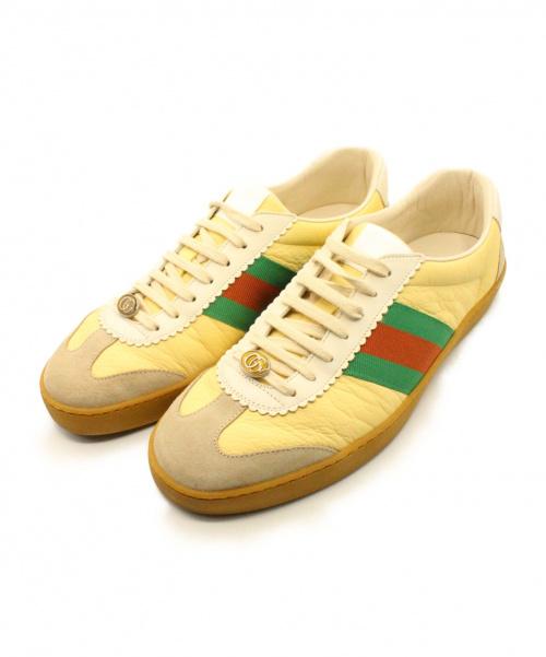 GUCCI(グッチ)GUCCI (グッチ) スニーカー ベージュ サイズ:10の古着・服飾アイテム