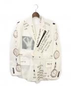 TAKAHIROMIYASHITA TheSoloIst.(タカヒロミヤシタザソロイスト)の古着「20AW プリントコーデュロイジャケット」|ホワイト