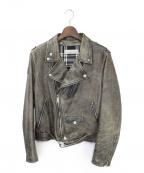 GOLDEN GOOSE(ゴールデングース)の古着「ライダースジャケット」|グレー