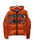 Dartin Bonaparto(ダルタン ボナパルト)の古着「スワロフスキーダウンジャケット」 オレンジ