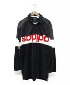 adidas(アディダス)の古着「長袖ポロシャツ」|ブラック