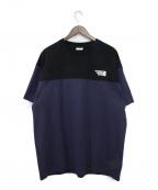 VETEMENTS(ヴェトモン)の古着「T-shirt with logo embroidery」|ネイビー×ブラック