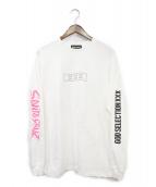 GOD SELECTION XXX(ゴットセレクショントリプルエックス)の古着「長袖Tシャツ」|ホワイト