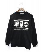 A BATHING APE(アベイシングエイプ)の古着「長袖Tシャツ」|ブラック