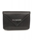 BALENCIAGA(バレンシアガ)の古着「ペーパーミニウォレット」|ブラック