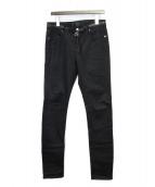 RTA(アールティーエー)の古着「クロススタッズデニムパンツ」|ブラック