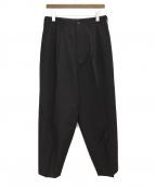 Y's for men(ワイズフォーメン)の古着「ウールギャバジン織ワイドスラックス」|ブラック