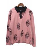 stussy(ステューシー)の古着「長袖ポロシャツ」|ピンク