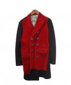 Jean Paul Gaultier FEMME(ジャンポールゴルチェ フェム)の古着「ベロアジャケット」|レッド×ブラック