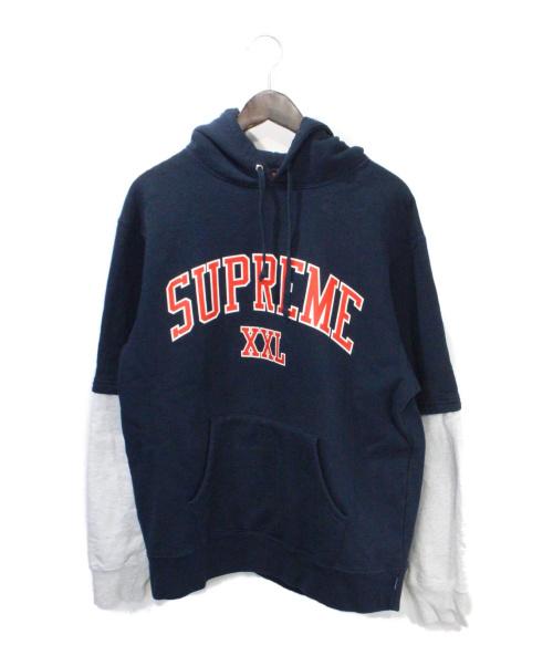 SUPREME(シュプリーム)SUPREME (シュプリーム) XXL Hooded Sweatshirt ネイビー サイズ:Mの古着・服飾アイテム