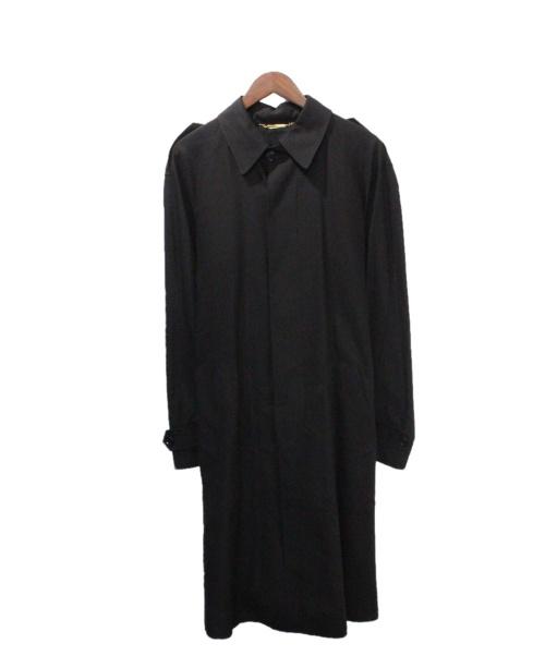 DOLCE & GABBANA(ドルチェ&ガッバーナ)DOLCE & GABBANA (ドルチェ&ガッバーナ) ステンカラーコート ブラック サイズ:46の古着・服飾アイテム