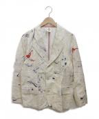 PIGALLE(ピガール)の古着「テーラードジャケット」 ベージュ