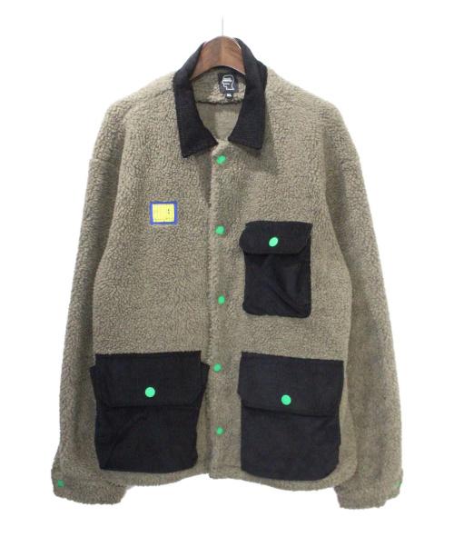 BRAIN DEAD(ブレイン デッド)BRAIN DEAD (ブレイン デッド) ボアジャケット ブラウン サイズ:XLの古着・服飾アイテム