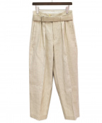 SEEALL(シーオール)の古着「21SS BELTED BUGGY PANTS」 アイボリー