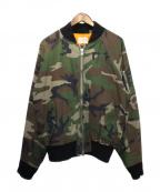 FOG(フィアオブゴッド)の古着「MA-1ジャケット」 カーキ