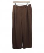 DISCOVERED(ディスカバード)の古着「20AW Wool Gaba Pants」|ブラウン