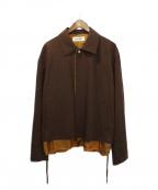DISCOVERED(ディスカバード)の古着「Wool Gaba Blouson」|ブラウン