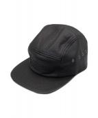 ()の古着「Pebbled Leather Camp Cap」 ブラック