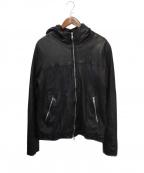 GIORGIO BRATO(ジョルジオ ブラッド)の古着「Hooded Leather Jacket」 ブラック