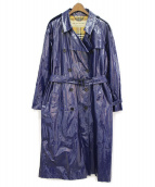 BURBERRY(バーバリー)の古着「エナメルトレンチコート」|ブルー