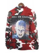 SUPREME(シュプリーム)の古着「Hellraiser BDU Shirt」|レッド×ホワイト