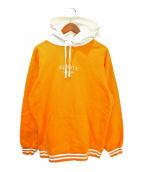 SUPREME(シュプリーム)の古着「Classic Logo Hooded Sweat」|オレンジ