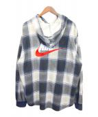 SUPREME(シュプリーム)の古着「Plaid Hooded Sweat Shirt」|ネイビー