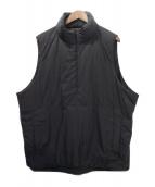 SO NAKAMEGURO(ソウ ナカメグロ)の古着「ORIGINAL HALF ZIP PADDING VEST」|ブラック
