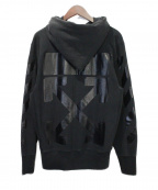 OFFWHITE(オフホワイト)の古着「CHAMPION FOR OFF-WHITE HOODIE 」 ブラック