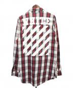 OFFWHITE()の古着「チェックシャツ」|レッド
