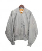 FOG(エフオージー)の古着「MA-1ジャケット」 グレー