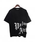 Palm Angels(パームエンジェルス)の古着「SIDE NEW GOTHIC T-SHIRT」|ブラック