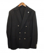 LARDINI()の古着「カシミヤダブルジャケット」 ブラック
