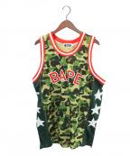 A BATHING APE()の古着「ABC CAMO BASKETBALL TANK TOP」|カーキ